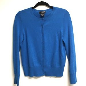 LORD & TAYLOR Cashmere Cardigan Sweater Blue M
